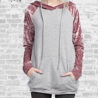 Velour Hoodie - Mauve - Small only