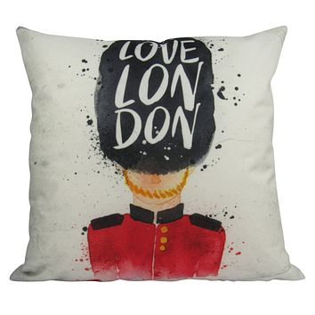 Queens Guard | London | Pillow Cover | Throw Pillow | Home Decor | British Guard | Palace Guard | Gifts for Travelers | Gift Idea | Dad Gift