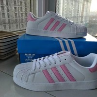 """""""Adidas"""" Fashion Casual Clover Print Unisex Sneakers Shell Head Plate Shoes Couple Running Shoes"""