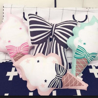 Ice-Cream Pillow Baby Toys Stuffed Throw Pillow Cushion for Kids Baby Bedroom Decration