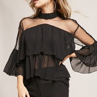 12x12 Sheer Flounce Top