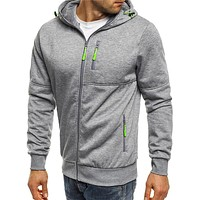 Men's Jackets Hooded Coats Casual Zipper Sweatshirts Male Tracksuit Fashion Jacket Mens Clothing Outerwear