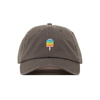 Unique Embroidered Taste The Rainbow Popsicle Dad Hat - Baseball Cap / Baseball Hat