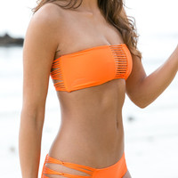 The Girl and The Water - Mikoh Swimwear 2014 - Velzyland Bikini Bottom / Sunrise - $100