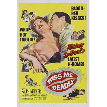 Kiss Me Deadly Poster//Kiss Me Deadly Movie Poster//Movie Poster//Poster Reprint//Home Decor//Wall Decor
