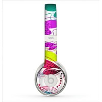 The Vibrant Neon Vector Butterflies Skin for the Beats by Dre Solo 2 Headphones