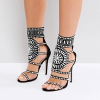 Public Desire Cleopatra Embellished Heeled Sandals at asos.com