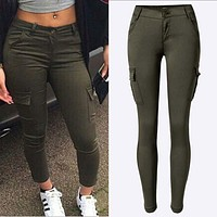 Hiking Camouflage Sports Skinny Pants