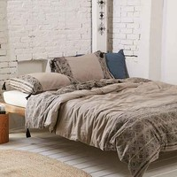 Magical Thinking Esrin Block Print Flannel Duvet Cover
