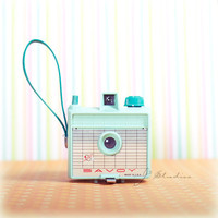 Vintage Camera Photo, Collector Series Photography Print, Imperial Savoy Camera, Mint Green, 50s 60s