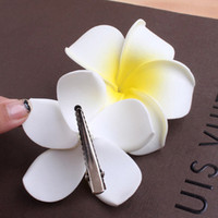 Summer Style Sunny Bright Plumeria Flower Foam Hair Clips 3 Sizes Barrettes Headwear Hair Accessories for Girls Kids Women