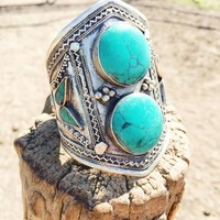 Stacked Turquoise Cuff