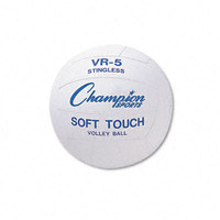Volleyball Rubber/Nylon Official Size White