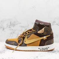Off-white X Air Jordan Retro 1 X Louis Vuitton Lv Sneakers - Best Deal Online