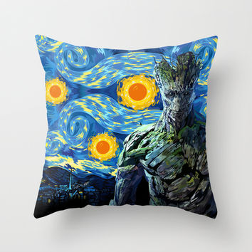 Guardian of the night Decorative Throw Pillow Cushion case by Three Second