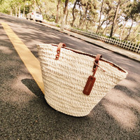 W.D.POLO Woven Summer Beach Bag