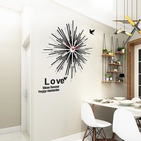 Oversized Non Ticking Abstract Quartz Wall Clock