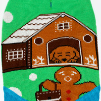 Dog Ugly Christmas Sweater - Gingerbread Home Invasion