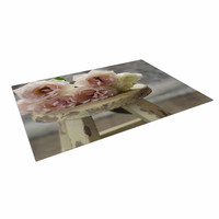 """Cristina Mitchell """"Roses on Stool"""" Floral Photography Indoor / Outdoor Floor Mat"""