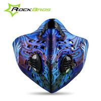 ROCKBROS Anti Pollution Mask Smog Cycling Mask Male Mtb Bicycle Facemask Running Fitness Bike Sports Half Face Mask Anti Dust