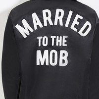 Married To The Mob Satin Bomber Jacket