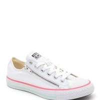 Converse Chuck Taylor All Star Double Zip Sneakers - Womens Shoes - White - 9