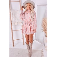 Put Your Trust In Me Smocked Long Sleeve Dress (Mauve)