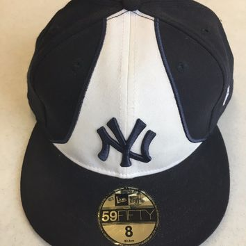 NEW ERA RETRO NEW YORK YANKEES MULTICOLOR FRONT 5950 FLAT BRIM FITTED HAT