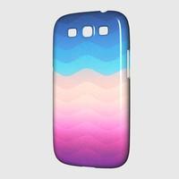 Pride Rainbow Wave (Colorful Geometric) Phone Case Samsung Galaxy S3 Premium Case | Spreadshirt
