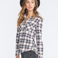 Vans Obsession Womens Flannel Shirt Cream Combo  In Sizes