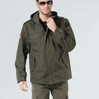 HOT High quality Men Outdoor German Military Tactical Jacket Cotton Windproof Sports Trench Army Clothing Y54 salebags