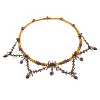 Early French Victorian Sapphire Diamond Necklace