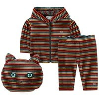 Baby Unisex Colorful Striped 3-piece Gift Set