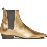 Saint Laurent - Devon Metallic Leather Chelsea Boots