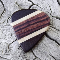 Handmade Multi-Wood Premium Guitar Pick - Jazz Semi-Stubby - Actual Pick Shown - Artisan Guitar Pick