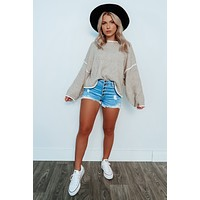 Can't Deny You Sweater: Heather Taupe