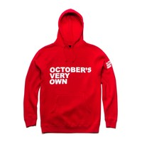 OVO Stacked Red Pullover Hoodie   October's Very Own