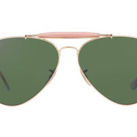 NEW SUNGLASSES RAY-BAN  OUTDOORSMAN II RB3029 in Gold