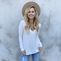 Dusk to Dawn Tunic Top In White