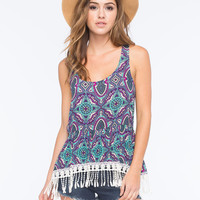 Others Follow Venice Womens Cami Blue Combo  In Sizes