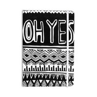 "Vasare Nar ""Oh Yes"" Black White Everything Notebook"