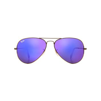 Ray-Ban Aviator Flash Lenses in Violet Mirror