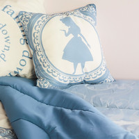 Disney Alice In Wonderland Alice Silhouette Cameo Throw Pillow