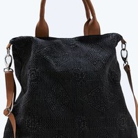 AEO Women's Textured Tote (Black)
