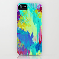 SUGARY GOODNESS - Lovely Cotton Candy Sweet Dreams Colorful Rainbow Abstract Chevron Ikat Painting iPhone Case by EbiEmporium   Society6