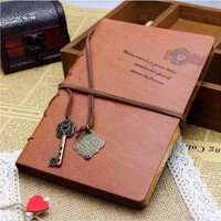 New Vintage Magic Key String classic Leather notebook diary journal Retro = 1932569220