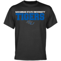 Savannah State Tigers Charcoal University Name T-shirt