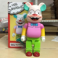 New Clown 400% bearbrick Corkbars Boxed Handle Model 28CM Cosplay The Simpsons