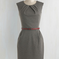 Mid-length Sleeveless Shift Cross The Byline Dress in Roving Reporter