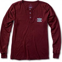 Unisex Wine Diamond Print Long Sleeve Henley | TOMS.com